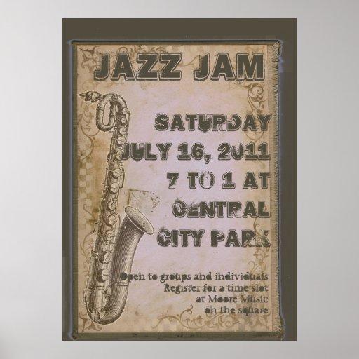 Poster adaptable del festival de música de jazz de