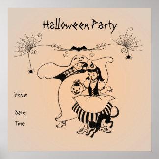 Poster adaptable del fiesta de Halloween