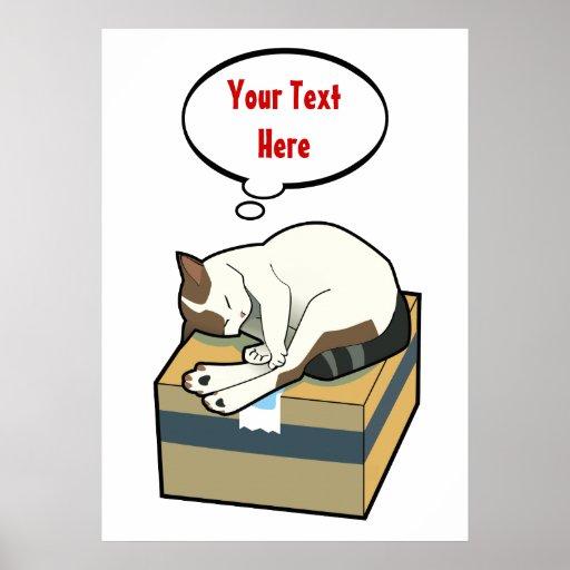 Poster adaptable del gato seis el dormir