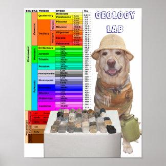 Poster adaptable del laboratorio de la geología póster
