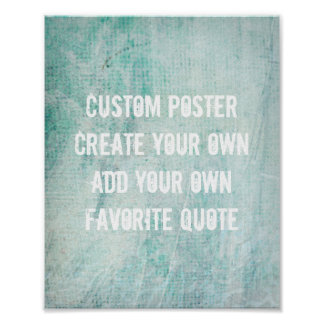 poster add your own quote for custom decor