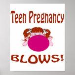 Poster adolescente del embarazo de los soplos