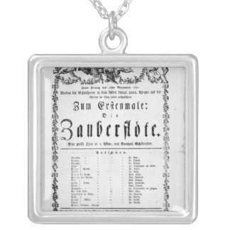 Poster advertisement of `The Magic Flute' Silver Plated Necklace