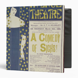 Poster advertising A Comedy of Sighs 3 Ring Binder