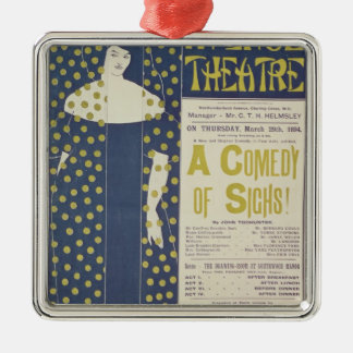 Poster advertising A Comedy of Sighs Metal Ornament