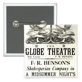 Poster advertising 'A Midsummer Night's Dream' Button