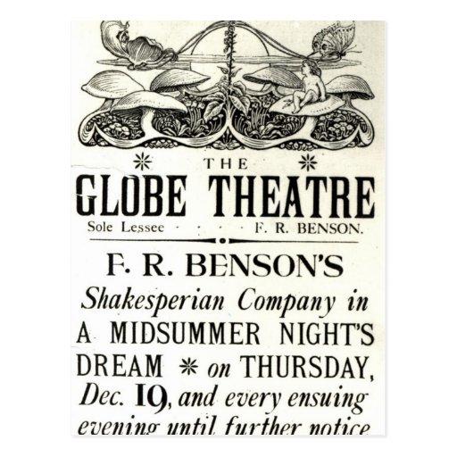 Poster advertising 'A Midsummer Night's Dream' Postcards