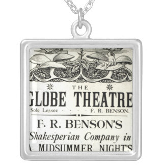 Poster advertising 'A Midsummer Night's Dream' Square Pendant Necklace