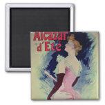 "Poster advertising ""Alcazar d'Ete"" 2 Inch Square Magnet"