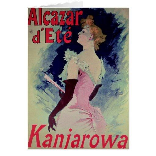 "Poster advertising ""Alcazar d'Ete"" Greeting Card"