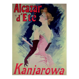 "Poster advertising ""Alcazar d'Ete"" Postcard"