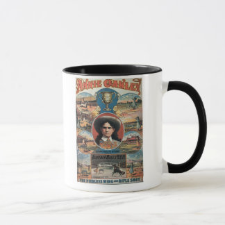 Poster advertising Annie Oakley featuring in Buffa Mug