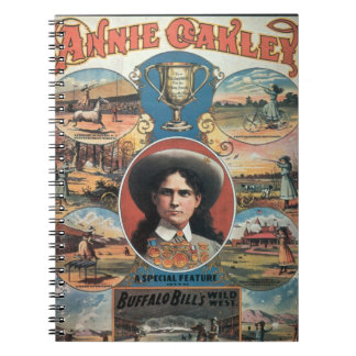 Poster advertising Annie Oakley featuring in Buffa Notebook