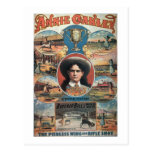 Poster advertising Annie Oakley featuring in Buffa Postcard