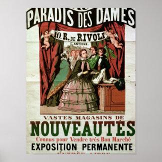 Poster advertising 'Au Paradis des Dames'