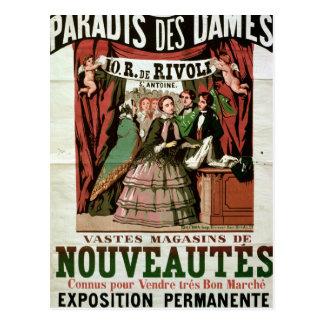 Poster advertising 'Au Paradis des Dames' Postcard