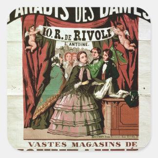 Poster advertising 'Au Paradis des Dames' Square Sticker