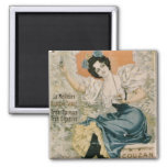 Poster advertising 'Brault Natural Mineral Water f 2 Inch Square Magnet