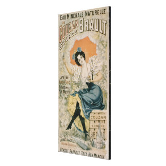 Poster advertising 'Brault Natural Mineral Water f Canvas Print