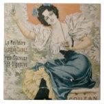 Poster advertising 'Brault Natural Mineral Water f Ceramic Tile