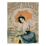 Poster advertising 'Brault Natural Mineral Water f Postcard