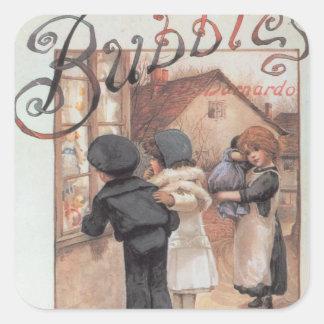 Poster advertising 'Bubbles' magazine Square Sticker