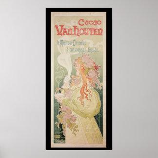Poster advertising Cacao Van Houten Belgium