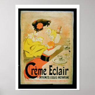 Poster advertising 'Creme Eclair Instant Dessert'