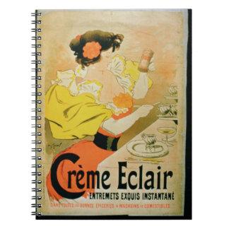 Poster advertising 'Creme Eclair Instant Dessert' Notebooks