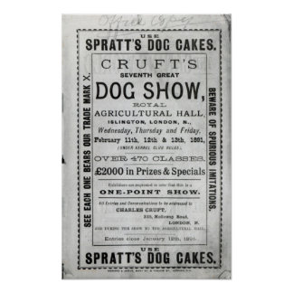 Poster advertising Cruft's Dog Show