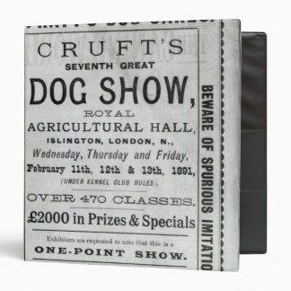 Poster advertising Cruft's Dog Show Binder