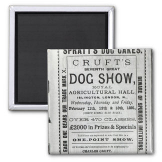 Poster advertising Cruft's Dog Show Magnet