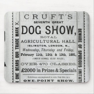 Poster advertising Cruft's Dog Show Mouse Pad