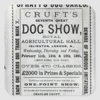 Poster advertising Cruft's Dog Show Stickers