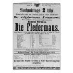 Poster advertising Die Fledermaus by Johann Greeting Card