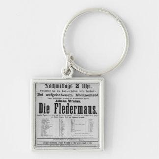 Poster advertising Die Fledermaus by Johann Keychain