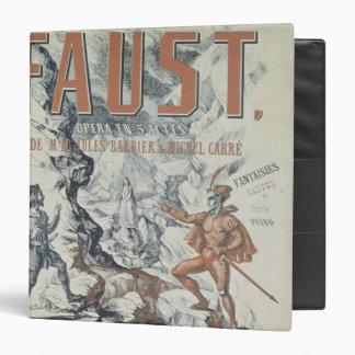Poster advertising 'Faust' Binder