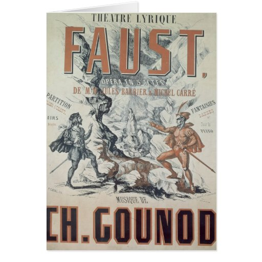 Poster advertising 'Faust' Greeting Card