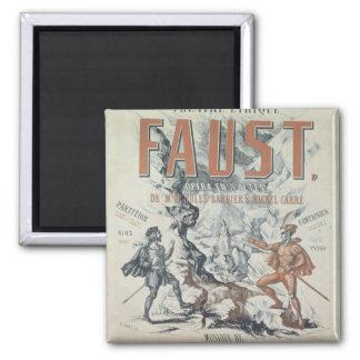 Poster advertising 'Faust' Refrigerator Magnet