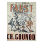Poster advertising 'Faust' Postcard