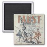 Poster advertising 'Faust' Refrigerator Magnet