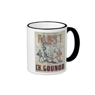 Poster advertising 'Faust' Ringer Mug