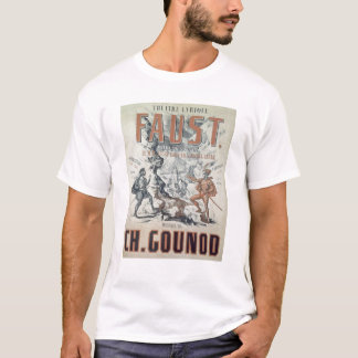 Poster advertising 'Faust' T-Shirt