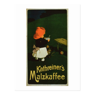 Poster advertising for Kathreiner s Malt Coffee Post Card