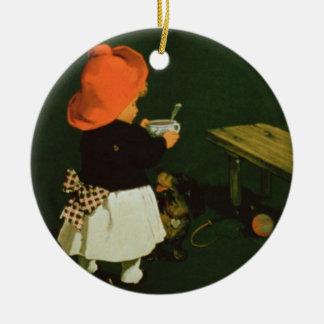 Poster advertising for 'Kathreiner's Malt Coffee' Ceramic Ornament