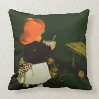 Poster advertising for 'Kathreiner's Malt Coffee' Throw Pillow