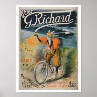 Poster advertising 'G. Richard Cycles', Paris (col