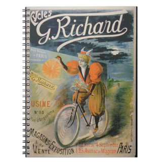 Poster advertising 'G. Richard Cycles', Paris (col Spiral Note Books