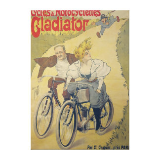 Poster advertising Gladiator bicycles Canvas Print
