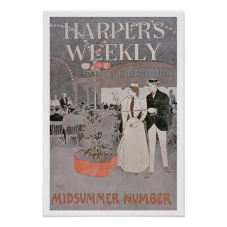 Poster advertising 'Harper's Weekly', Midsummer Nu